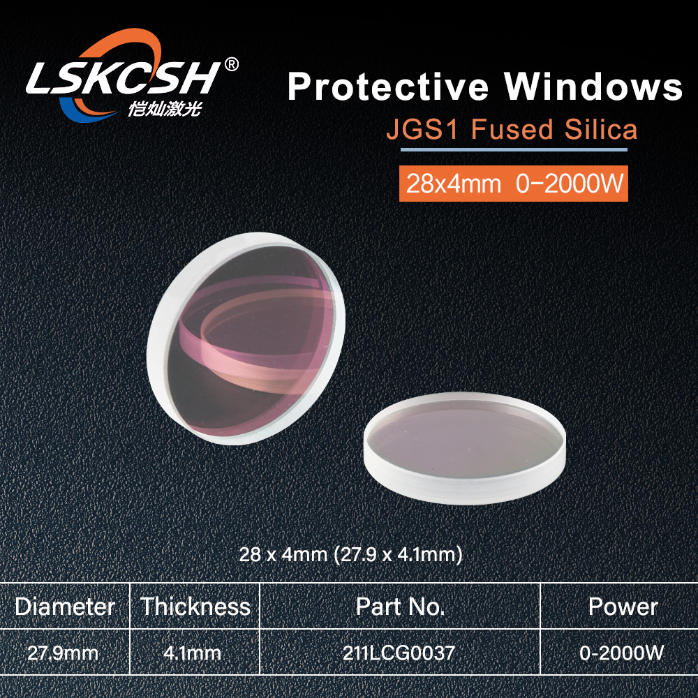 LSKCSH RayTools Lens AG fiber laser head protection lens protection windows 28 4mm for 500W 700W
