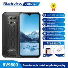 "Blackview BV9800 Helio P70 אנדרואיד 9.0 6GB + 128GB Smartphone 48MP אחורי מצלמה IP68 עמיד למים 6580mAh 6.3 ""FHD טלפון נייד"