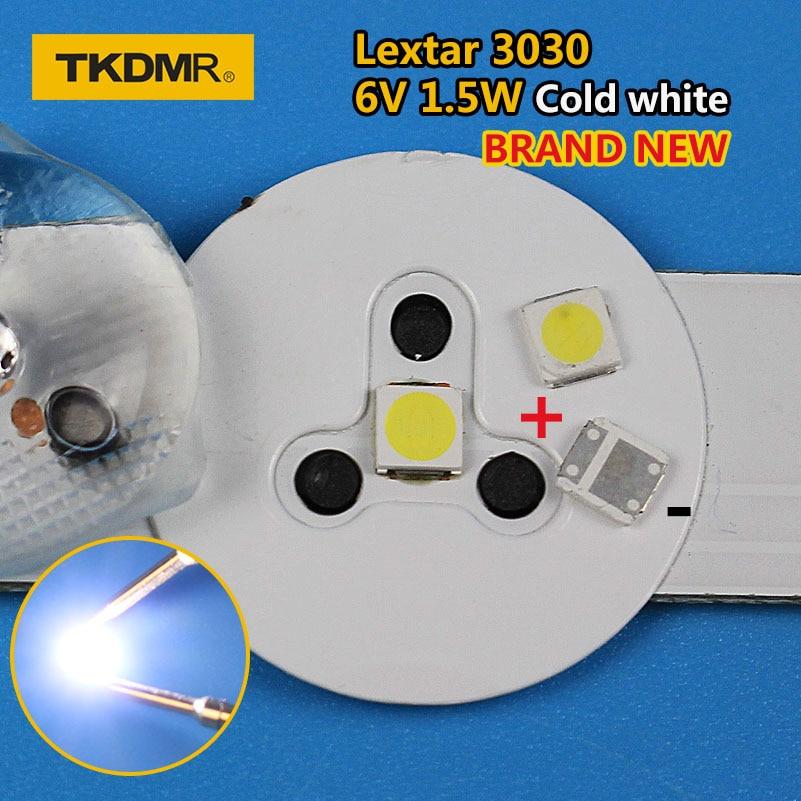 TKDMR 50pcs Lextar LED Backlight High Power LED 1.8W 3030 6V Cool White 150-187LM PT30W45 V1 TV Application 3030 Smd Led Diode