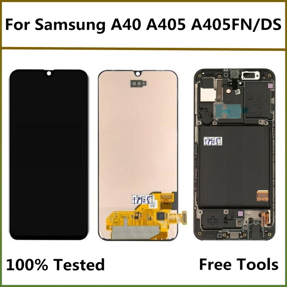 <font><b>LCD</b></font> Screen For <font><b>Samsung</b></font> <font><b>A40</b></font> <font><b>LCD</b></font> Display Screen For <font><b>Samsung</b></font> Galaxy <font><b>A40</b></font> A405FN/DS A405F A405FD <font><b>LCD</b></font> Display Touch Screen Assembly image