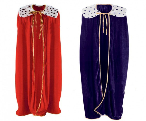 Red Boy Men King Children Cosplay Cloak Cape Prince Crown Party Cosplay costume