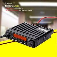 רכב נייד רדיו RETEVIS RT98 מיני נייד רדיו VHF (או UHF) 15W 199 צג LCD CH רכב מכשיר הקשר Ham Radio רכב רדיו משדר ארוך טווח (1)