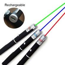 Usb recarregável ponteiro de mira laser 5mw ponto vermelho caneta de luz laser poderoso laser medidor 530nm 405nm 650nm caneta laser engraçado gato vara