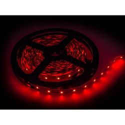 Лента светодиодная, красная, подсветка яркая, освещение комнаты 9,6 Ватт 2835-120SMD-12V (9.6Вт) (red)