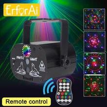 Mini rgb luz de discoteca laser projetor palco dj festa led strobe lâmpada usb recarregável night club efeito iluminação lâmpada aniversário