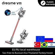 Dreame V11 elektrikli süpürge el kablosuz temizleyici OLED ekran 25kPa hepsi bir arada toz toplayıcı zemin halısı temizleyici