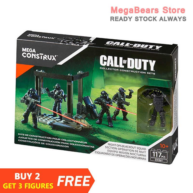 Mega Bloks-bloques de construcción de Call of Duty para niños, bloques de construcción de equipo de operaciones nocturnas Blackout DXB61, juguetes de construcción