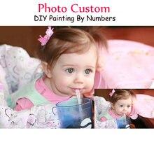 Персонализированные Краски по номерам фото на заказ diy живопись