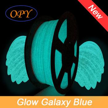 Opy brokat matowy Galaxy Filament 1Kg 1 75Mm czarny 10M 100G plastikowe świecące niebieski Twinkle drukarka 3D Pla Luminous zielony błyszczący tanie i dobre opinie CN (pochodzenie) solid 10 metrów 335 metrów 3D Printer 3D Printing Drawing Pen Pencil ± 0 05 mm 190 - 220 Celsius Degree
