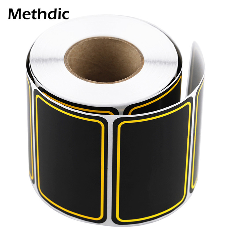 500Pcs/roll Self Adhesive Blackboard Labels Kitchen Spice Cans Jar Bottle Tags