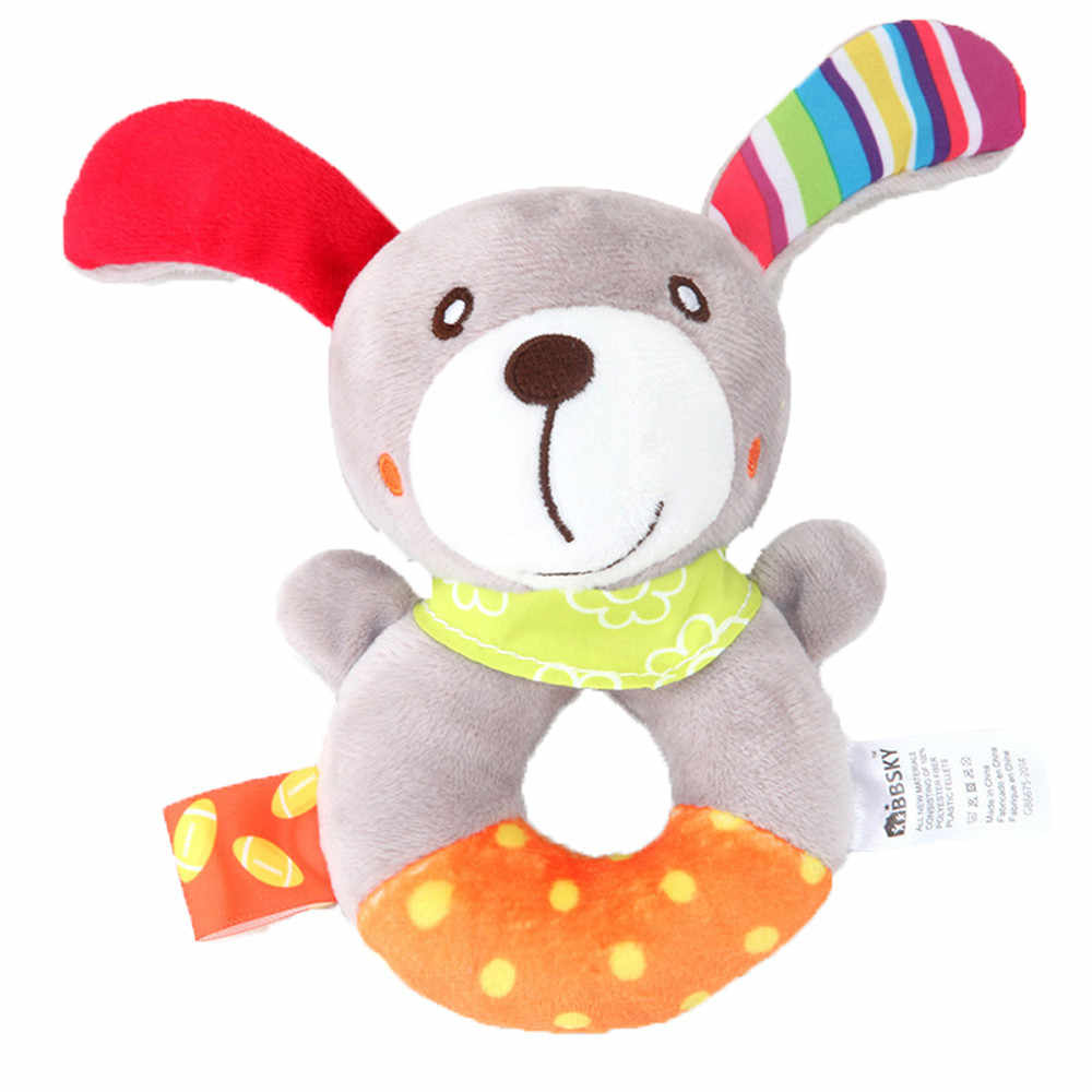 Baby Rattles Toys Stroller Hanging Bells Soft Crib Toys Cute Animal Doll Plush Baby Cartoon Bed Toys Sleep Well Tool appease sal
