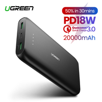 Ugreen Power Bank 20000mAh Portable Charging External Poverbank for iPhone 11 8 Mobile Phone Battery Charger Powerbank 20000mAh