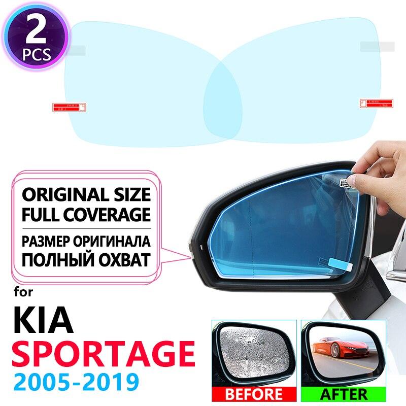 Полноэкранная противотуманная пленка для зеркала заднего вида для KIA Sportage 2005 ~ 2019 JE KM SL QL Автомобильные пленки аксессуары R 2006 2008 2010 2016 2018