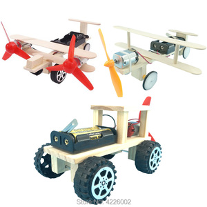 DIY Kit Plane Car Science Experiment Kids Electronic Education STEM physics Toys Technology Inventions Project for Children Boy