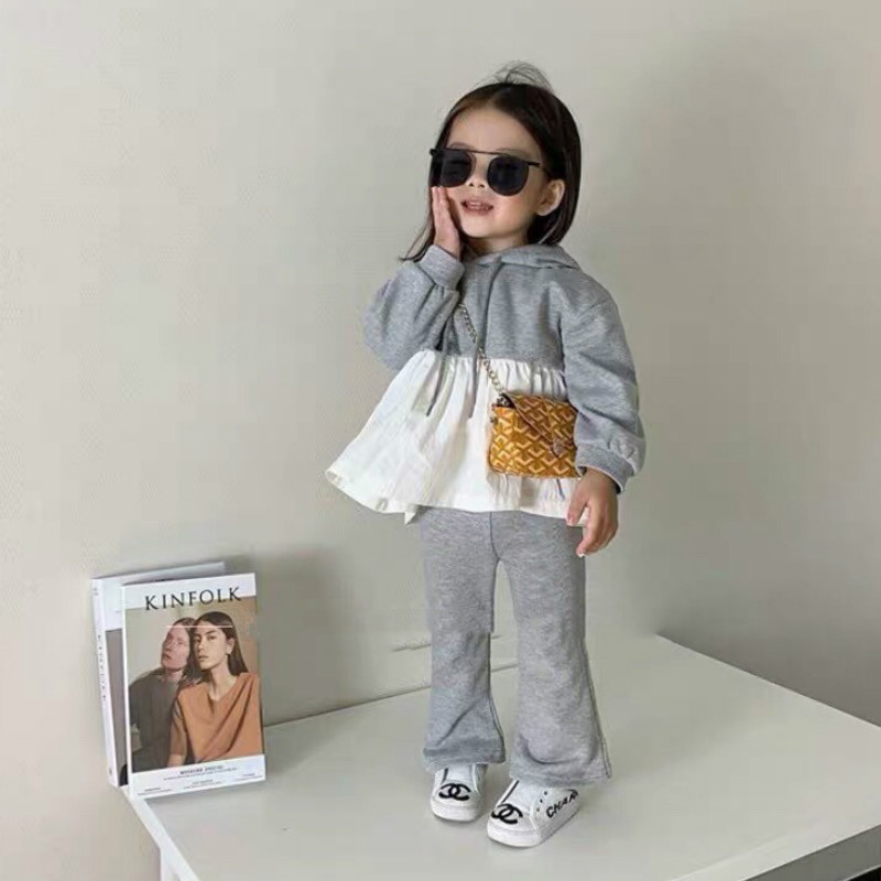 2021 Autumn New Arrival Girls Long Sleeve 2 Pieces Suit Top+pants  Girls Boutique Outfits 1