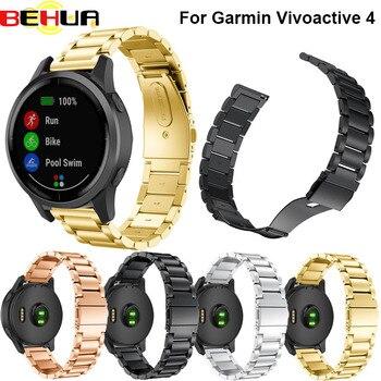 22mm pulsera de acero inoxidable correa de reloj para Xiaomi Huami Amazfit Smartwatch pulsera para samsung Gear S3 Sport Classic