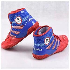 Zapatillas de lucha para hombre, Tenis masculinos profesionales de marca, ligeros, con cordones, para boxeo, transpirables, 2020