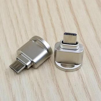 USB+3.1+Type+C+Micro+SD+TF+lecteur+de+carte+m%C3%A9moire+OTG+convertisseur+Portable+bo%C3%AEtier+en+m%C3%A9tal+adaptateur+lecteur+de+carte+adaptateur+de+t%C3%A9l%C3%A9phone+Portable+TSLM1