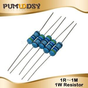 50pcs 1W Metal film resistor 1% 1R ~ 1M 2R 10R 22R 47R 100R 330R 1K 4.7K 10K 22K 47K 100K 330K 470K 1 2 10 22 47 100 330 ohm(China)