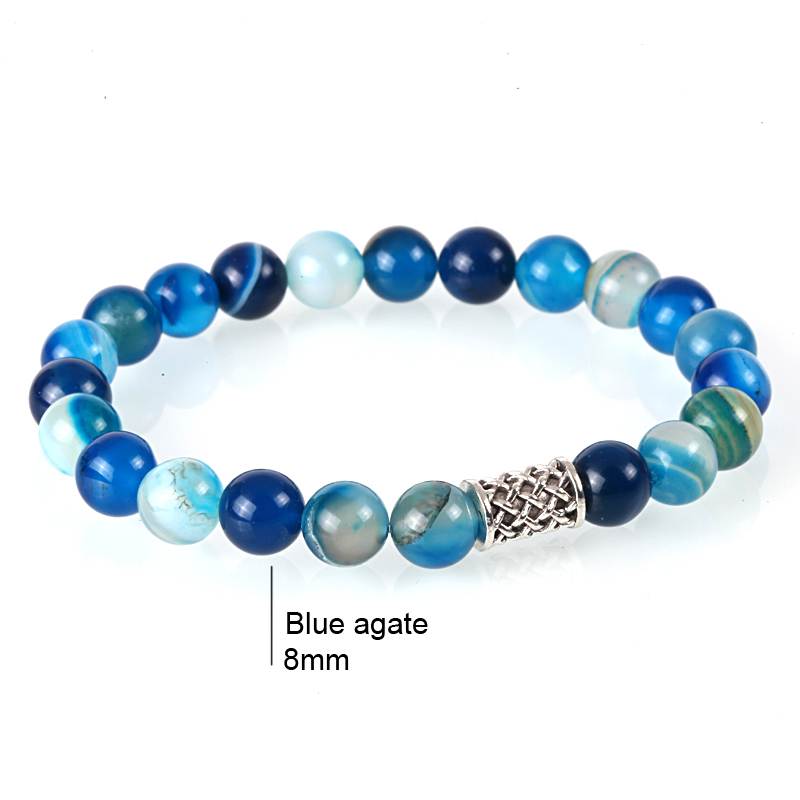 Bangles Korean Nomination Charm Bracelets for Women Men Retro Tiger Eye Stone Beads erkek Bileklik Wooden Bead Indian Jewelry in Strand Bracelets from Jewelry Accessories