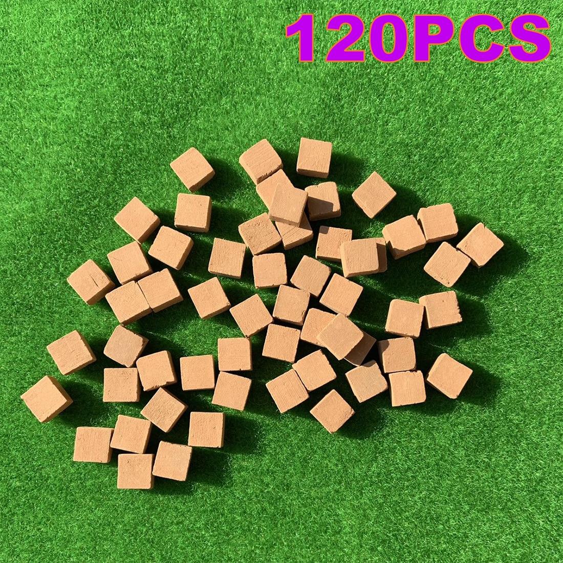 70/120Pcs 1:16 Scale Mini Red Half Bricks Model Antique Micro Landscape Decorative Bricks For DIY Sand Table Building   Red
