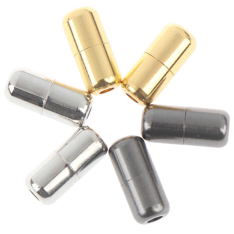 2 uds. Bloqueo de cordones de Metal sin cordones de Metal Bloqueo de encaje DIY kits para zapatillas plata oro negro hebilla de encaje de Metal