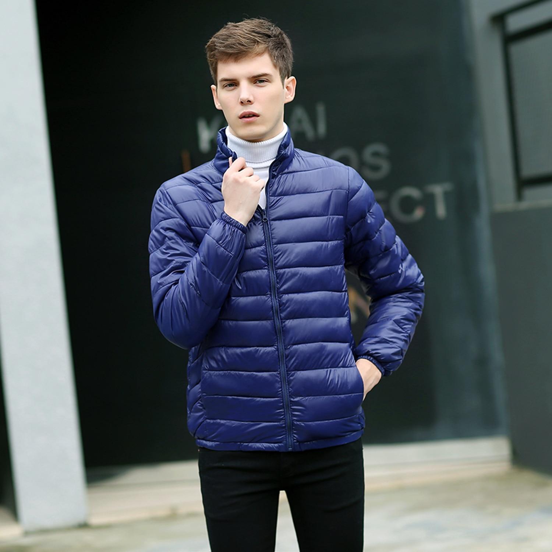 Autumn Winter Jacket Men Parka Hombre Ultra Light Down Cotton Coat Plus Size Male Jackets Ropa De Hombre 2020 KJ759