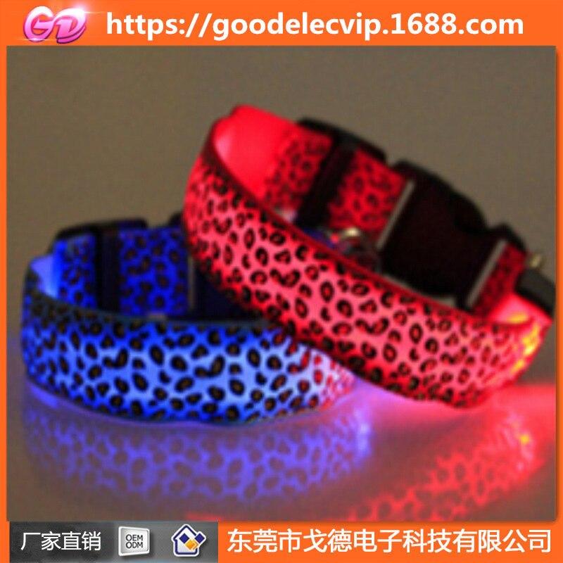 USB Glowing Pet Collar LED Pet Light-emitting Supplies USB Charging Dog Neck Ring