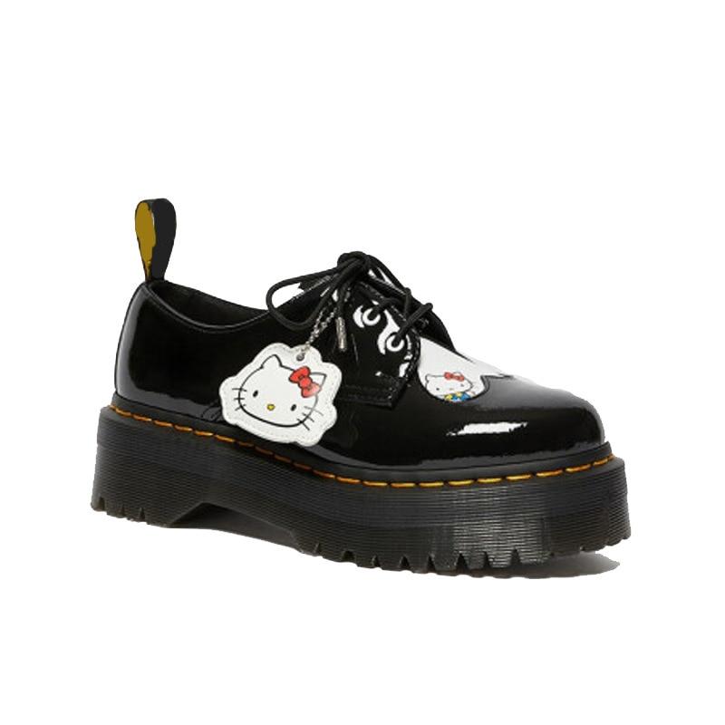 Модные женские туфли мартинсы, новые толстые женские кожаные туфли, Симпатичные низкие женские повседневные топ-сайдеры, женские туфли