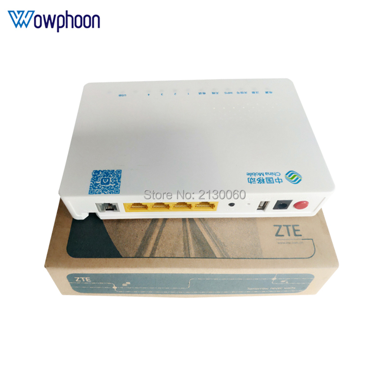 Free Shipping ZTE ZXHN F663N GPON 3FE+1GE+1Tel+USB+Wifi ONU ONT English Firmware Function Same As HG8546M,100% New