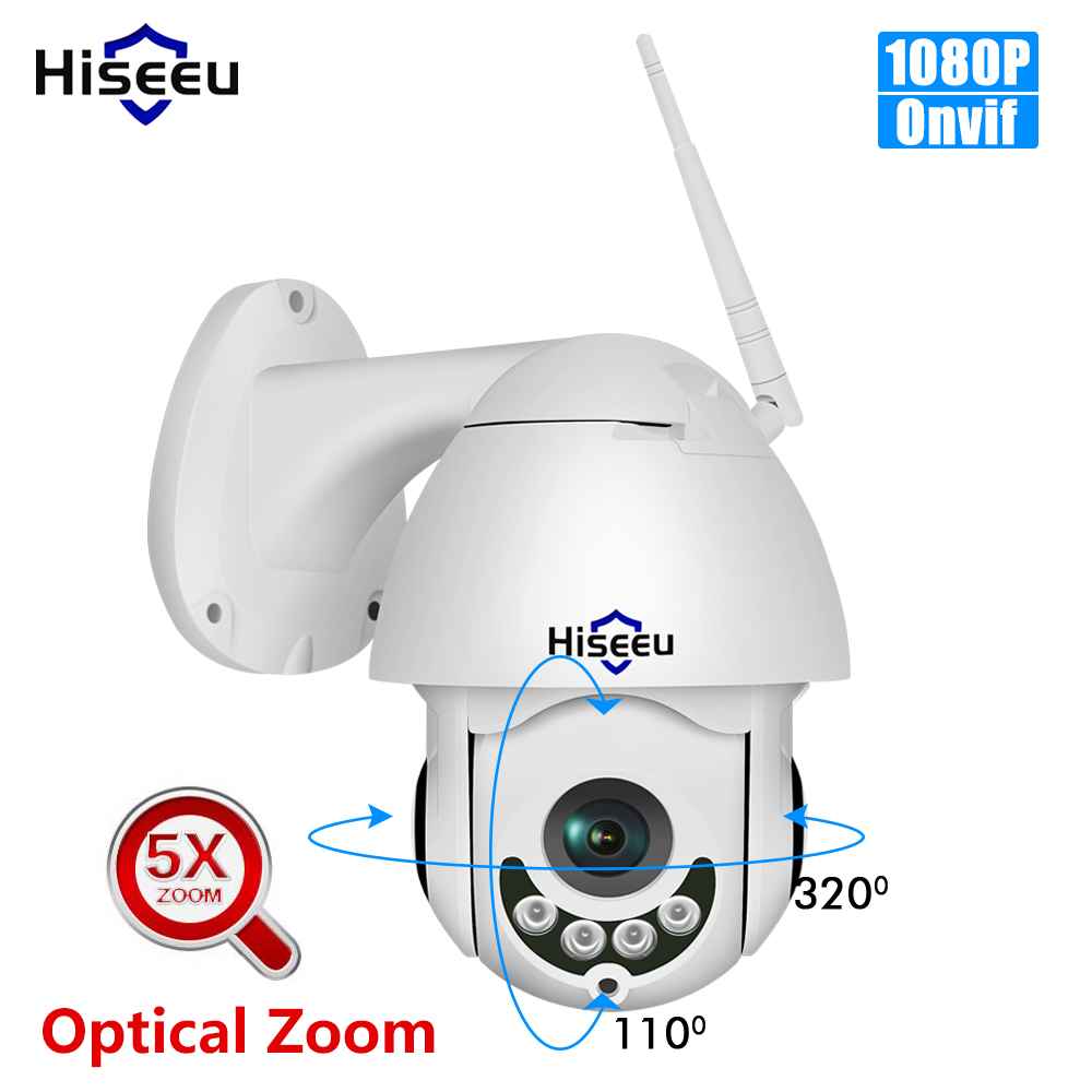 Hiseeu Ip-Camera PTZ Optical-Zoom Wifi Speed Dome CCTV Surveillance Onvif Waterproof