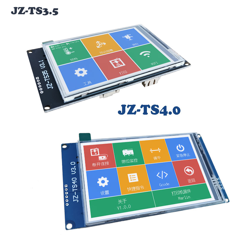 2.8 4 3.5inch Multilingual Colored JZ-TS28/35 V3.1 JZ-TS40 Touch Screen Display WIFI Ramps1.4 Marlin For 3D Printer DIY Parts