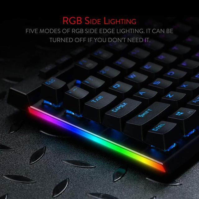 """Redragon K580 VATA Teclado mecánico para jugar RGB retroiluminado con LED 104 llaves Anti-Ghosting """"teclas Macro azul interruptores para DOTA 2 jugadores"""