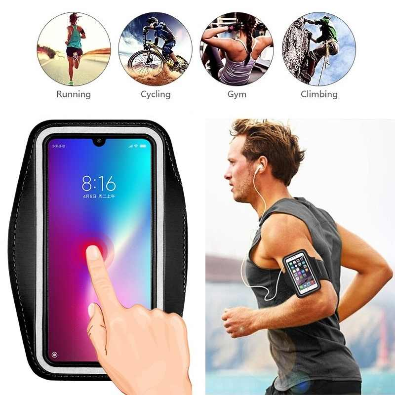 Running Bag Case Voor Telefoon Houder Cover Voor Xiaomi Mi 10 Pro Note 10 Lite 9 9T Pro 8 SE A2 Lite A3 A1 Redmi Note 7 8 6 5 9 Pro 9s 4 4X 8A 7A 6A Case Bag