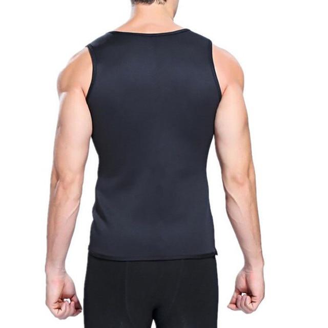 New Plus Size Men Slim Gym Neoprene Vest Body Shaper Sauna Ultra Sweat slimming Corset Shirt 4