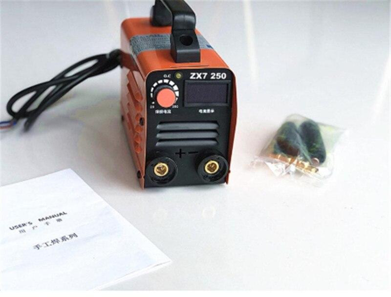 Ru lieferung 250A 220V Kompakte Mini MMA Schweißer Inverter ARC Schweißen Maschine Stick Schweißer