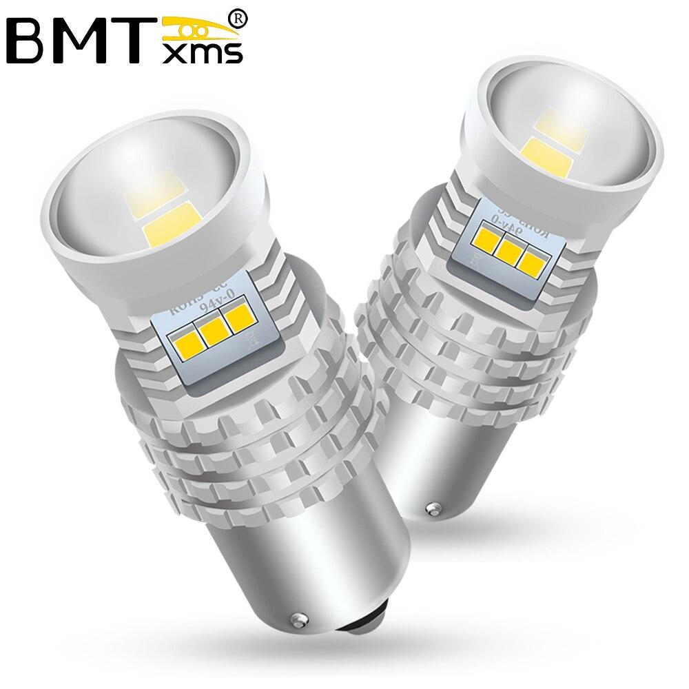 BMTxms-Luz LED de circulación diurna para coche, Canbus, accesorios de lámpara, para Hyundai Creta, BA15S, 2016 P21W