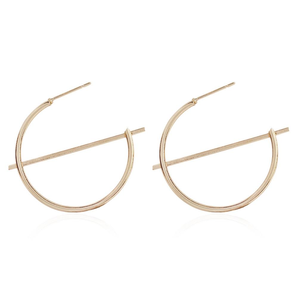 Fashion Statement Earrings 2019 Big Geometric Round Earrings For Women Hanging Dangle Earrings Drop Earing Modern Female Jewelry 5
