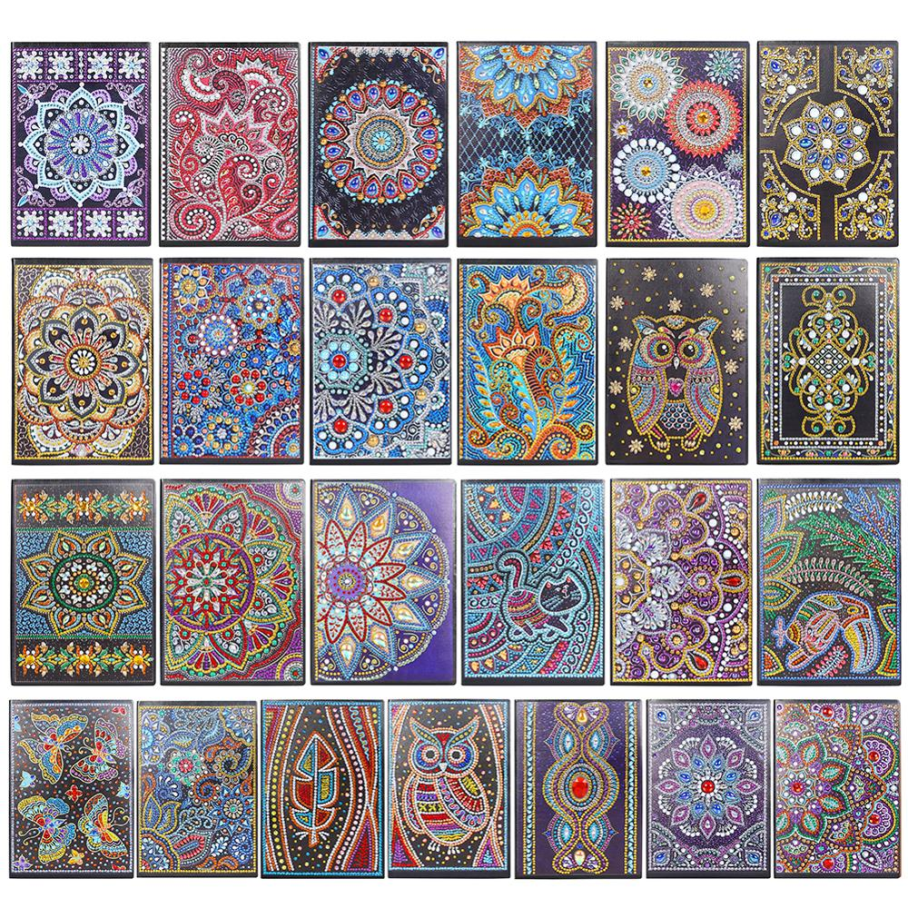 50 Pages Diamond Painting Notebook DIY Mandala Special Shaped Diamond Embroidery Cross Stitch A5 Notebook Diary Book