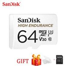 سانديسك 100% جهاز مراقبة الفيديو عالي التحمل 32 جيجا بايت 64 جيجا بايت 128 جيجا بايت 256 جيجا بايت بطاقة مايكرو SDHC/SDXC Class10 TF بطاقة لمراقبة الفيديو