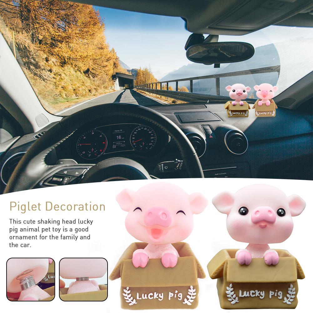 Accesorios de decoración para coche, decoración de interiores, decoración para el hogar, cabeza de cerdo