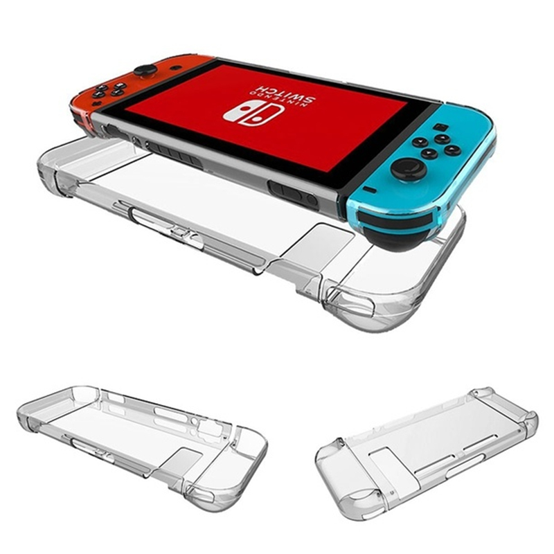4 Color Protective Nintend Switch Transparent Crystal Shell Host Handle Protective Case Transparent PC Protective Shell Game Acc 1