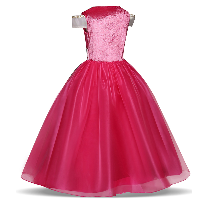 Girls Princess Dress Halloween Costume Birthday Party Clothing for Children Kids Vestidos Robe Fille Girls Fancy Dress 4