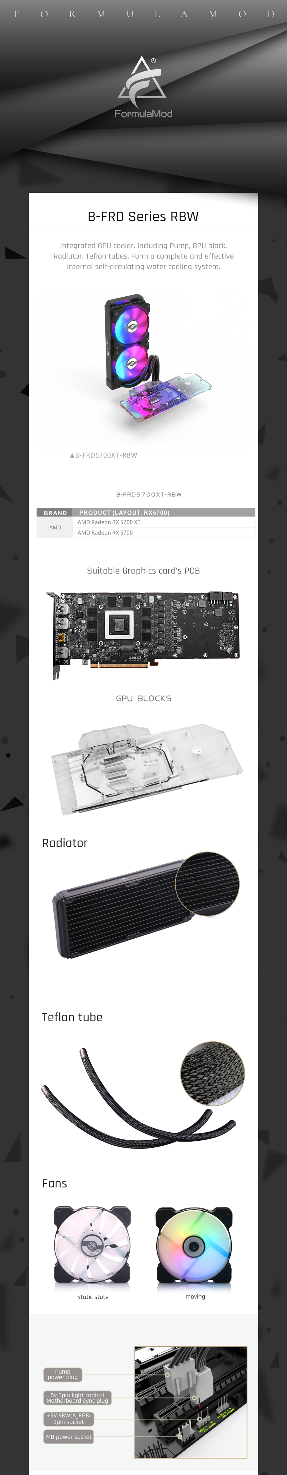 Integrated Type GPU Block With 240 Radiator Water Cooling System Aio Cooler For AMD Radeon Rx 5700 Xt / Rx5700 Bykski Kit
