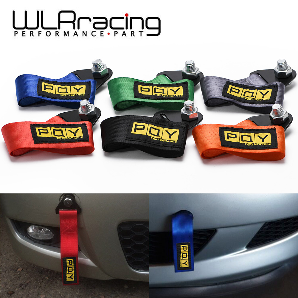 PQY Towing Rope High Strength Nylon PQY JDM Trailer Tow Ropes Racing Car Universal Tow Eye Strap Tow Strap Bumper Trailer