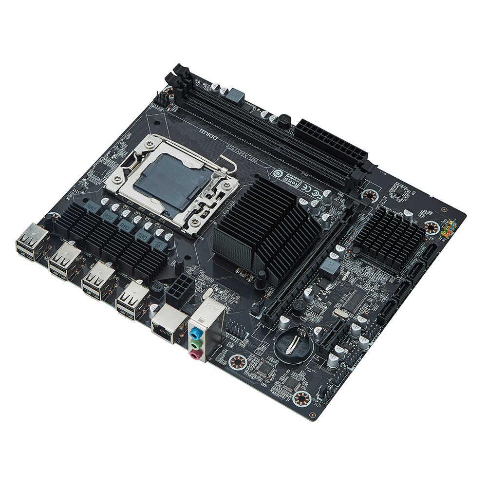 Conjunto de placa-mãe x58 lga1366, kit com e 16gb (2 peças * 8gb) memória ram ecc ddr3 12800r, 1600mhz