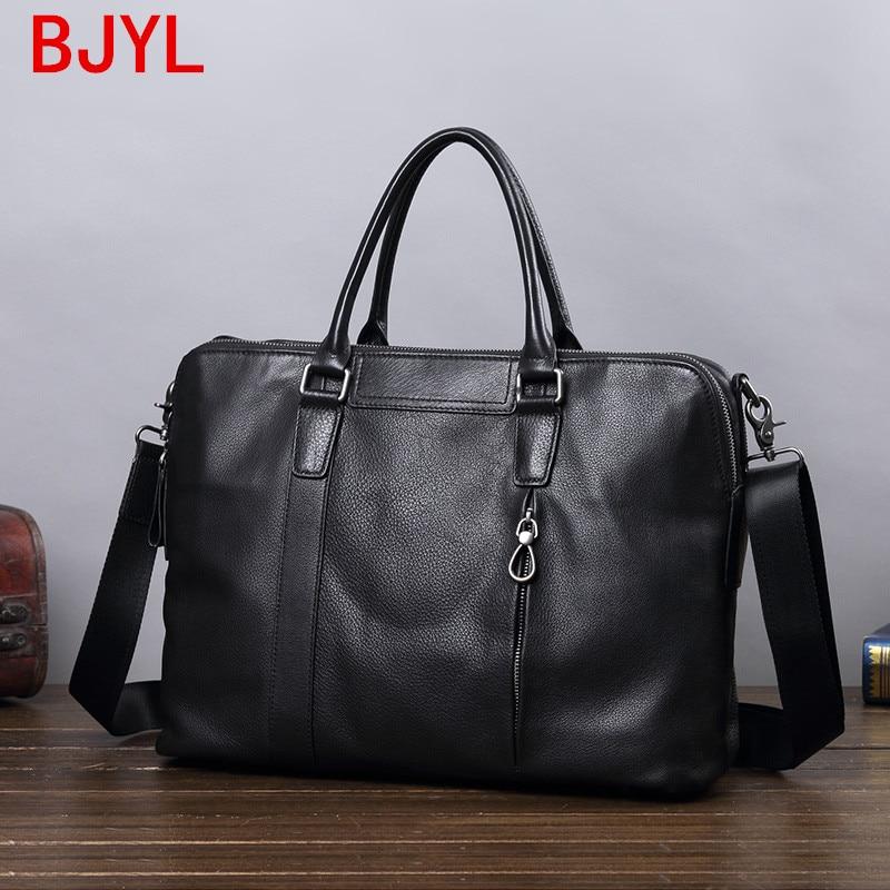 Business Briefcase Men's Bag Leather Handbag Leather Shoulder Messenger Bag Large Capacity Computer Bag Leisure Travel Bags