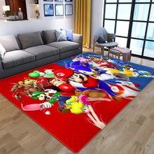 Desenhos animados super bros área tapetes tapete chão quarto capacho antiderrapante sala de estar