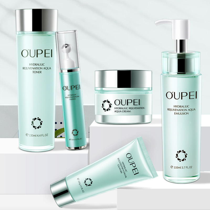 OUPEI Skin Care Products Set Moisturizing And Hydrating  Brightening Skin Tone Five-piece Set Facial Care Set