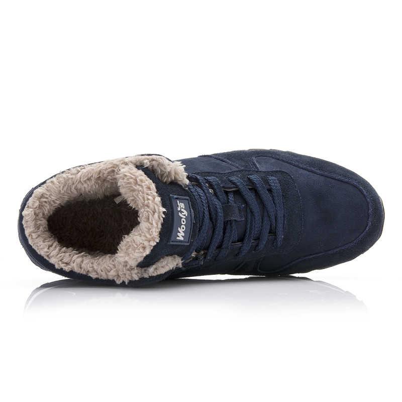 WDHKUN kadın botları kış kar botları kadın 2019 kış Sneakers çizmeler Unisex katı peluş ayakkabı Mujer Botas büyük boy 45